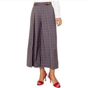 The East Order Trench Plaid Melody Wide Leg Pants